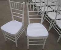 Wholesale country club white chiavari chair with seat pad