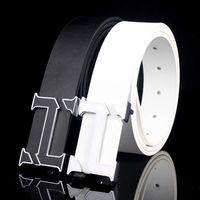 belt buckel - New designer belts man belt h buckel belt smooth buckle fashion brand belt young belts for men