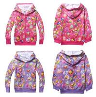 Wholesale 2016 Girls Zip up Hoodes Shop Fruits Family Kids Long Sleeve Cotton Zipper Hood Cartoon Jacket Kids Spring Autumn Outwear Kids Clothes