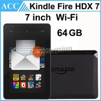 Wholesale Refurbished Original Kindle Fire HDX inch GB Wifi Qualcomm GHz Quad Core th Generation Android Tablet PC Black Color Free DHL