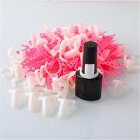 Wholesale 50pcs Nail Art Ring Tips False Nail Art Tools Polish Display Practice Kit