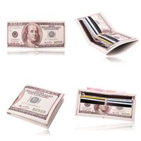 army money - New Arrival Men s World Currency Bill Wallet Bifold PU Leather Money Wallets Short Purse USD Dollar Pound Card Holder Children Kids Gifts