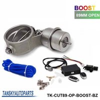 Wholesale Tansky Exhaust Control Valve With Boost Actuator Cutout mm Pipe Opend with Wireless Remote Controller Set TK CUT89 OP BOOST BZ