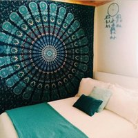 Wholesale Indian Mandala Style Bedspread Ethnic Throw Art floral Towel Beach Meditation Yoga Mat Wall Decorative Hanging Tapestries cm
