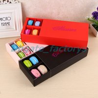 Wholesale Macaron Box Holds Cavity cm Food Packaging Gifts Paper Party Boxes For Bakery Cupcake Snack Candy Biscuit Muffin Box
