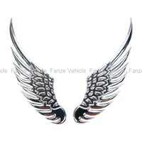 Wholesale New Universal Vehicle Car Angel s Wings D Car Emblem Stick Decal Best Price Cool lt no tracking