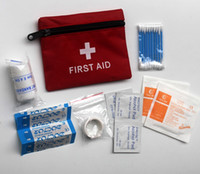 Wholesale 7 in First Aid Kit For Outdoor Travel Sports Emergency Surviva Indoor Or Car Treatment Pack Bag Mini Portable Medical Rescue Bag