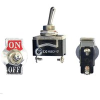 Wholesale Black Heavy Duty SPST Terminal ON OFF Mini Toggle Switch Waterproof Cap Cover Supertop