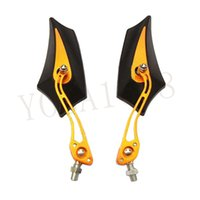 Wholesale New HOT Sale Colors Motorcycle Racing Rearview Mirror Aluminum Pole Bat Type Color Side Mirrors