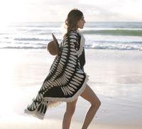 Wholesale 14 Styles Popular Microfiber Round Beach Towel With Tassels Summer Bath Towels Swimming Sunbath toallas serviette de plage