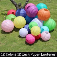 Wholesale Pieces Inch cm Colors Chinese Paper Lanterns For Wedding Party Decoration