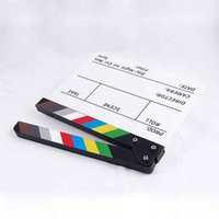 Wholesale Colorful Clapperboard Acrylic Movie Action Slate Clap Clapper Board CM
