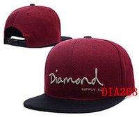 Wholesale Diamond Snapback Thousands Snap Back Hat For Men Summer Diamond American Basketball Hat Women Baseball Cap