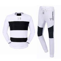 Wholesale 2017 spring new philippplein men s creases stitch sports suit hoodies pants tracksuits training suit round neck sports suit