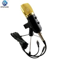 audio process - ETOPLINK MK F100TL USB Condenser Sound Recording Audio Processing Wired Microphone with Stand for Radio Braodcasting KTV Karaoke