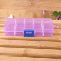 Wholesale mmx70mmx22mm purple component box electronic IC chip SMT box screw box ten lattices storage tool box