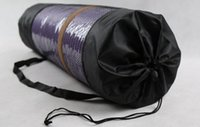 Wholesale DHL nylon yoga bag yoga mat bag carrier mesh center yoga backpack Black Color