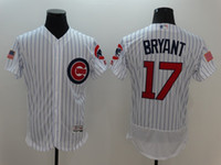 Wholesale Kris Bryant Chicago Cubs Independence Day Majestic Fashion Stars Stripes Flex Base Player Baseball Jerseys Free Drop Ship MIX ORDER