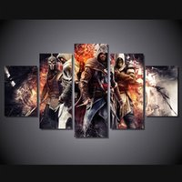 assassin pc - 5 Set No Framed HD Printed assassin creed Painting Canvas Print room decor print poster picture canvas spray paint art