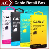 Wholesale New Luxury Universal Micro USB Charger Adapter Cable Paper Retail Package Packing Packaging Box Case with Handle for iPhone Samsung HTC LG