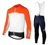 bicycle racer - poc Cycling Jerseys Sets avip Bike Suit Racer Bicycle Jersey Climber Tracksuits Long Sleeve Shirt Mens Cycling Clothing Bib Pants