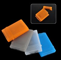 Wholesale 2 IDE SATA HDD Hard Drive Disk Protection Plastic Storage Box Case Enclosure