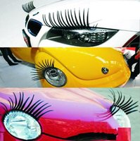 Wholesale 40PCS PAIRS D Eyelash D car logo sticker D Automotive eyelashes car eye lashes lashes