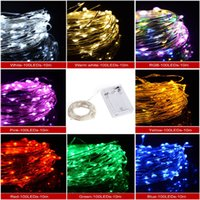 battery powered flashing lights - hot sale led copper wire string fairy light lights waterproof battery powered christmas wedding party decoration M