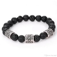 Wholesale Men s Women s New Fashion Diffuser Jewelry Natural Lava Stone Prayer Beads Charms Bracelets Anti fatigue Volcanic Rock Charm Brace