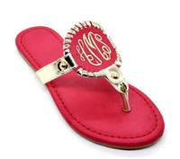 Wholesale woman flip flops color matching big yards leisure shoes beach scandal shoes