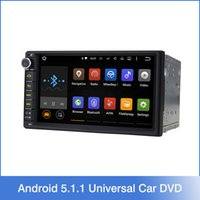 Wholesale 7 quot Double Din Android Lollipop Universal Car Radio Quad Core HD Car GPS Navigation Head Unit Car DVD Player