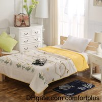 Wholesale HOT New Style Pure Cotton Fabric with Polyester Filling Summer Quilt Romantic Pattern Cool Comforter Twin Full Queen Size