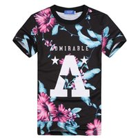 big graphic tees - New Fashion Men women t shirt d printed big A letters flowers Harajuku style Graphic T shirt summer tops tees