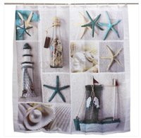 Wholesale Customs W x H Inch Shower Curtain Snow Star Fish Sea Waterproof Polyester Fabric Shower Curtain
