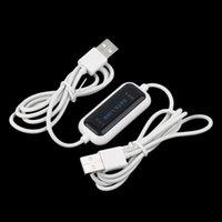 al por mayor usb to usb file transfer cable-Nueva alta velocidad USB de PC a PC en línea Compartir sincronización de enlace de datos directa neta de transferencia de archivos puente de cable LED Fácil Copiar entre 2 Ordenador