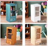 Wholesale Size cm Layers Wooden Storage Bins Organization Sundries Cosmetic Medicine Toys Storage Box Case Bins Cabinets with Drawers