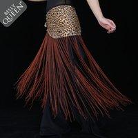 Wholesale New Belly Dance Costume Tribal Tassel Hip Scarf wrap Belt Skirt Fringes Leopard
