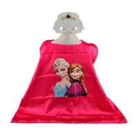 Costume d'Halloween Anna Elsa cosplay enfants capes avec masque pour enfants super gelé cape cloak set