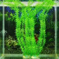 Wholesale Bonsai Fish Tank Artifical Grass Ornaments cm Underwater Artificial Plant Grass for Aquarium Fish Tank Landscape Home Decor