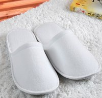 Wholesale disposable Slippers one time hotel family travel white no word sulbactam soft flax plush