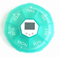 Wholesale Smart timing Kits New Intelligent Timing Daily Reminder Alarm one week Box Portable Round Shape cell for one week