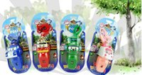 Wholesale Q deformation hot deformation robot toys alloy whistle whistle clan Red Green Blue Pink Size CM Customizable