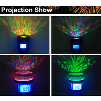 Wholesale Novelty Camera Lens Music Calendar Projection Snooze Alarm Clock Backlight