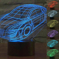 acrylic desk - 3D Desk Lamp Birthday Gifts Lighting Lamps Car Volkswagen Beetle Shape LED Desk Lamp w Acrylic Night Light With USB Line