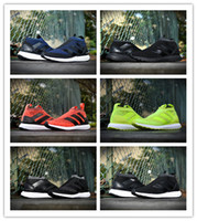 Wholesale 2016 Ace all Black Yellow Primeknit Ultra Boost Men Running Shoes mens shoes David Beckham High Quality Version Size