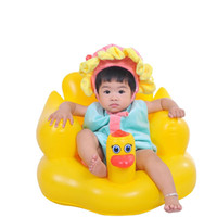Wholesale 2016 New baby chair small sofa cute duck Inflatable baby bath stools Baby toys Children baby travel animal portable chair