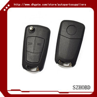Wholesale opel key shell Opel flip remote key shell button No Chip Car Key Case Flip Fob Car Cover