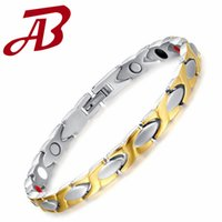 benefit power - Mens Titanium Hologram Nagetive Ion Germanium Magnets Fahion Power Energy Health Magnetic Bracelet with health Benefits CBRM