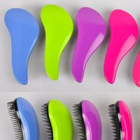 Wholesale Cheap Styling Tools - Cheap Hair Brush Combs Magic Detangling Handle Tangle Shower Salon Tamer Tools Hair Styling Combs 19*8.5*3.8cm 16 Colors DHL Free Shipping