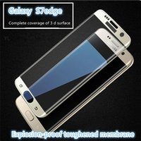 Wholesale 0 MM Galaxy S7 edge S7 Full Screen Protector Tempered Glass S7 edge Plus Cover Whole Screen Curve Screen Protector With Retail Package